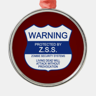 ZSS (Zombie Security Systems) Christmas Ornament