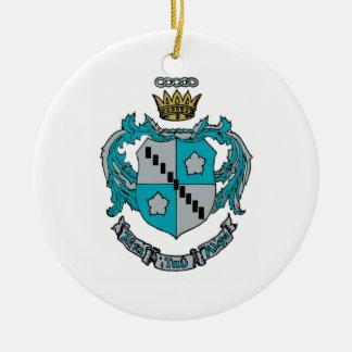 ZTA Crest Color Christmas Ornament