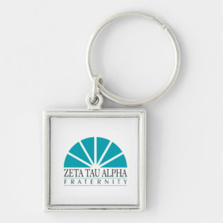 ZTA Logo Silver-Colored Square Key Ring