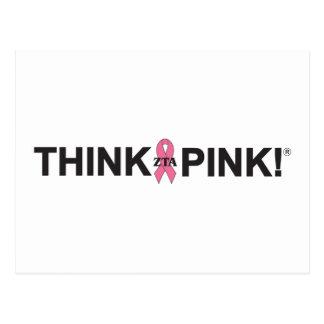 ZTA Think Pink! Postcard