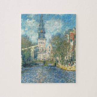 Zuiderkerk in Amsterdam by Claude Monet Jigsaw Puzzle