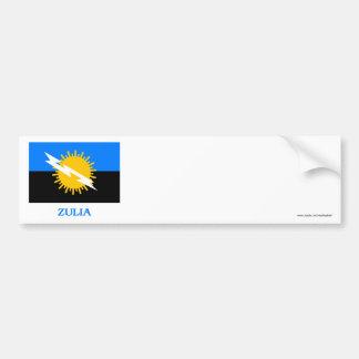 Zulia Flag with Name Bumper Sticker