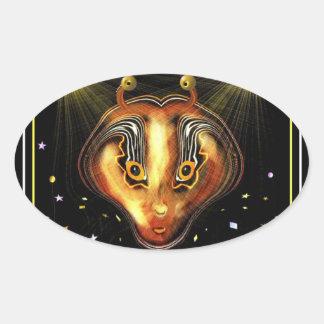 Zulka Alien Oval Sticker