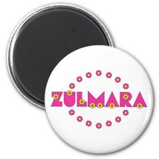 Zulmara Flores Pink 6 Cm Round Magnet