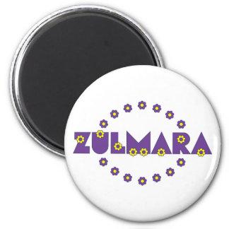 Zulmara Flores Purple 6 Cm Round Magnet