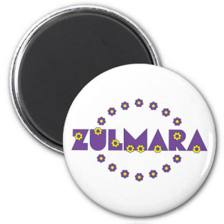 Zulmara Flores Purple Fridge Magnets