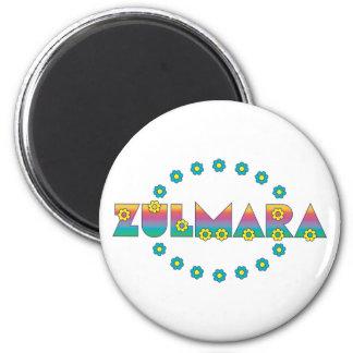 Zulmara Flores Rainbow 6 Cm Round Magnet