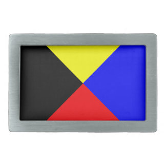 zulu nautical flag belt buckle