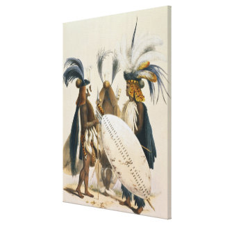 Zulu Soldiers of King Panda's Army, plate 20 from Canvas Print