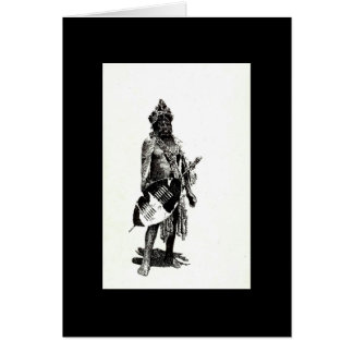 Zulu Warrior in black and white by Vicci Lee Card