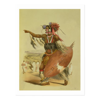 Zulu warrior, Utimuni, nephew of Chaka the late Zu Postcard