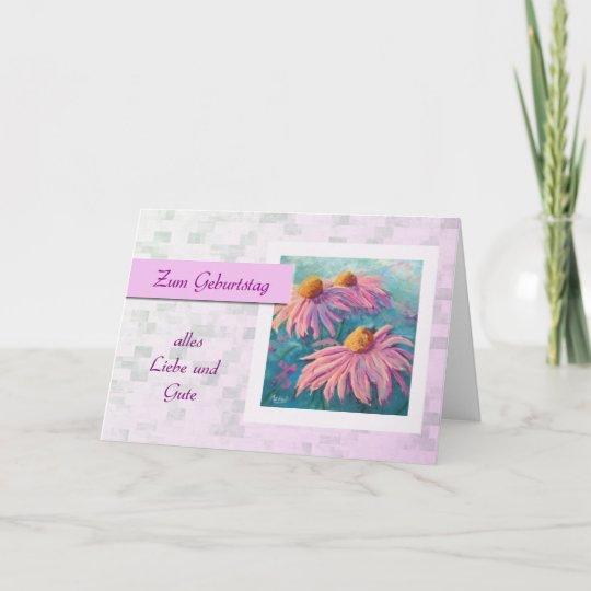 Zum Geburtstag - Happy Birthday in German, daisies Card