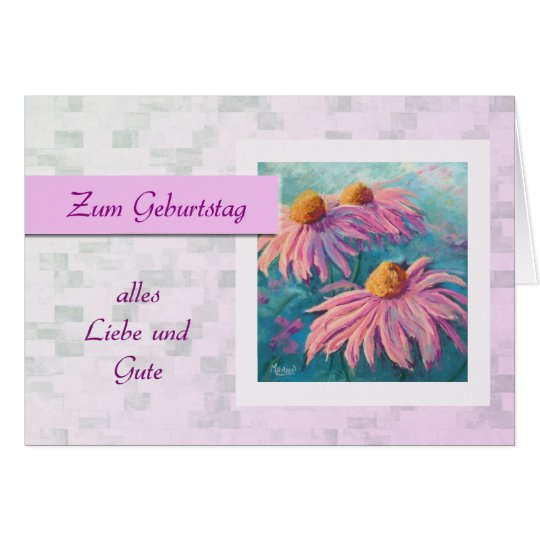 Zum Geburtstag - Happy Birthday in German, daisies