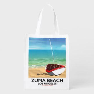 Zuma Beach LA Rail beach poster