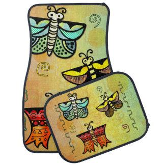 Zuni Butterfly Folk Art Car Mat