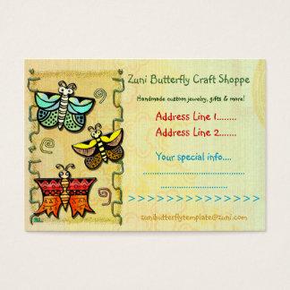 Zuni Butterfly Folk Art CRAFTS HANDMADE TRADING Business Card