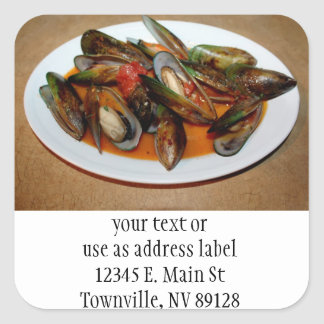 Zuppa di Mussels Square Sticker