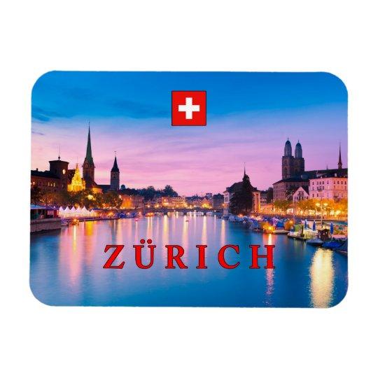 Zurich 003D Rectangular Photo Magnet