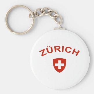 Zurich Basic Round Button Key Ring