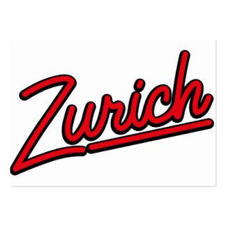 Zurich in red business card
