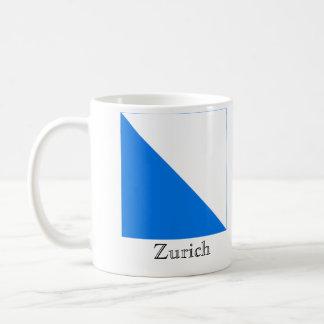 Zurich, Suisse Drapeau Flags Basic White Mug