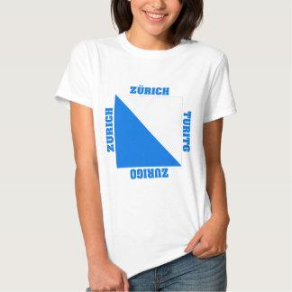 Zurich Switzerland Canton Flag T Shirt