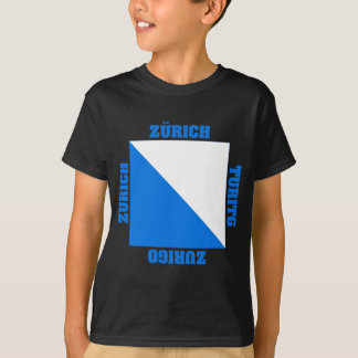 Zurich Switzerland Canton Flag T-Shirt