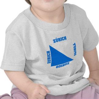 Zurich Switzerland Canton Flag T Shirts