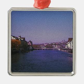 Zurich Switzerland Digital art. Christmas Ornament