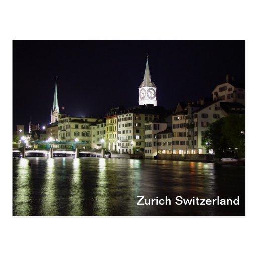 Zurich Switzerland Limmat River Postcard