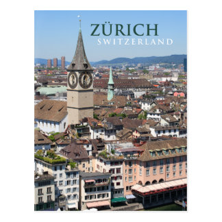 zurich switzerland postcard