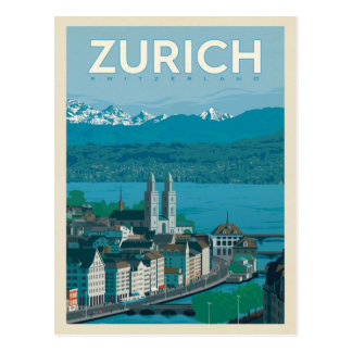 Zurich, Switzerland Postcard