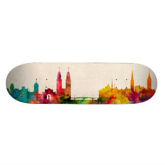 Zurich Switzerland Skyline 20.6 Cm Skateboard Deck