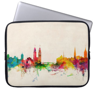 Zurich Switzerland Skyline Laptop Sleeve