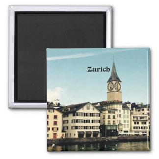 Zurich, Switzerland Square Magnet