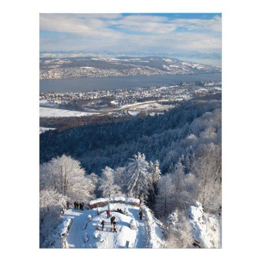 Zurich Switzerland Winter Personalized Flyer