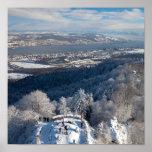 Zurich Switzerland Winter Poster