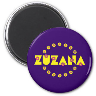 Zuzana in Flores Yellow Refrigerator Magnets