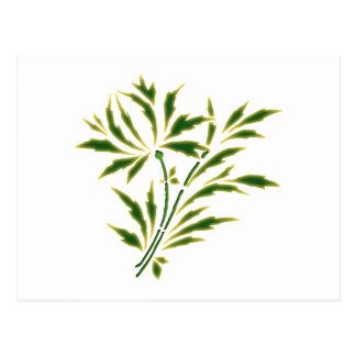 Zweig Strauch twig shrub Postkarte