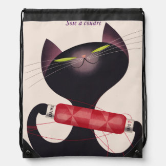 Zwicky Cat Poster by Donald Brun Drawstring Bag