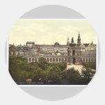 Zwinger and the Theatre, Altstadt, Dresden, Saxony Round Sticker