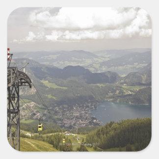 zwoelferhorn, wolfgangsee, salzburg,salzburger square sticker
