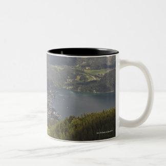 zwoelferhorn, wolfgangsee, salzburg,salzburger Two-Tone coffee mug