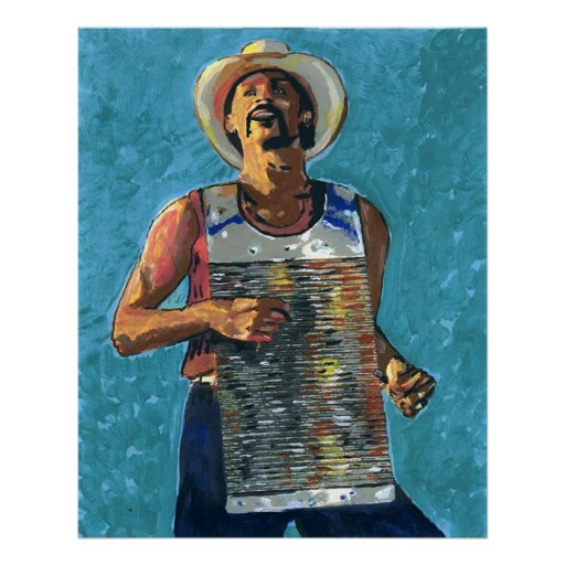 Zydeco Joe Painting Poster
