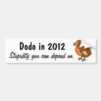 ZZ- Funny Dodo Political Bumper Sticker