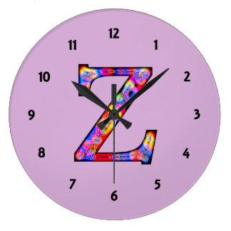 Zz Illuminated Monogram Round Wall Clock