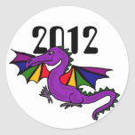 ZZ- Year of the Dragon Sricker Round Stickers