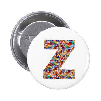 ZZZ DDD EEE FFF Alphabets Deco Artistic Gifts Tees 6 Cm Round Badge